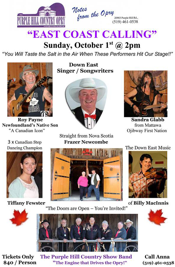 purple hill country hall, events london ontario, country music events in ontario